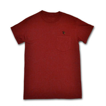 BURN POCKET T-SHIRT BURGUNDY