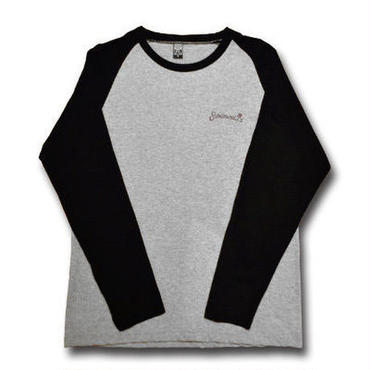 SUBLIMINAL LONG SLEEVE TEE GRAY&BLACK