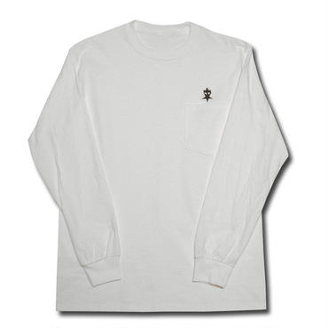 UNSAFETY L/S POCKET T-SHIRT WHITE