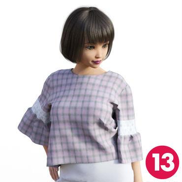 【13号】フリル袖トップスA3 PDF型紙