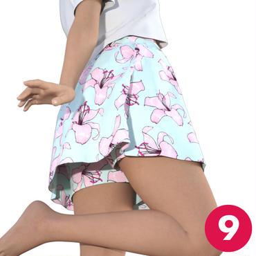 【9号】スカート付きパンツテニススコートA3 PDF型紙