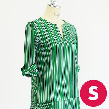 【Sサイズ】前スラッシュ開きリボン袖トップスA3 PDF型紙