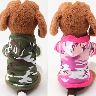 【犬服】犬のカモフラ迷彩パーカー