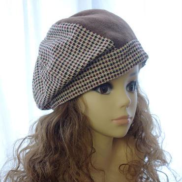 【Lサイズ】8枚ハギのたるみベレー帽 A3 PDF型紙(59~63cm用)