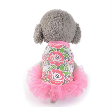 【犬服】ローズピンクチュチュドレス
