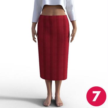 【7号】後ろベンツロングタイトスカートA3 PDF型紙