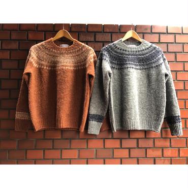 John Tulloch ジョンタロック HEAVY BRUSH NORDIC CREW PULLOVER ノルディッククルーネックセーター