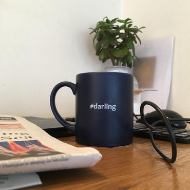 "Hashtag Mug/Navy ""darling"""