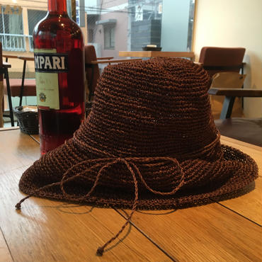 Abaca  Wide  Brim  Hat/Brown