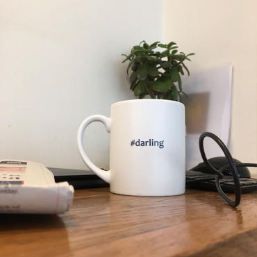 "Hashtag Mug/White ""darling"""