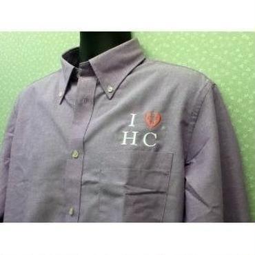 ハートクロス長袖シャツ・オリジナルブランド・薄紫色