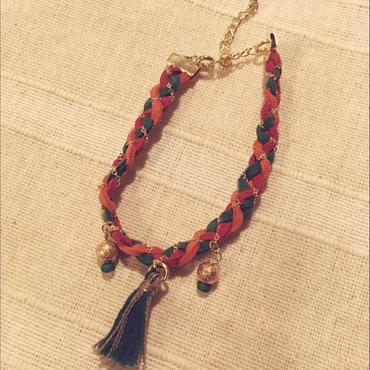 《装苑掲載》【Cinnamon's Acce#Sally】Bracelet / Yellowish Red