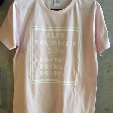 CLUB  POLYPHOLIC 2.3.4 Tシャツ (ベビーピンク)