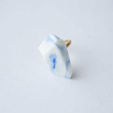 SALE | Marble Stone Ring  -  BLUE
