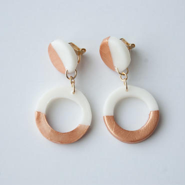 Lack of Geometry Earrings Copper - Circle