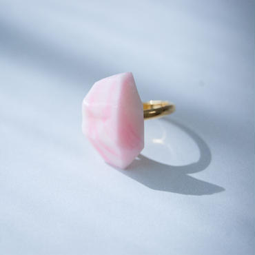SALE | Marble Stone Ring  S - PINK
