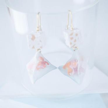 Trigonal Pyramid Piereced Earrings ピアス