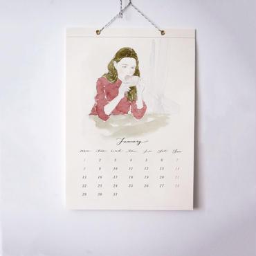 { 予約販売 - 12月中のお届け } Yuriko Oyama 2018 Calendar