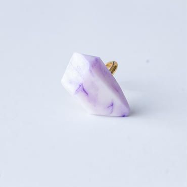 SALE | Marble Stone Ring  -  VIOLET