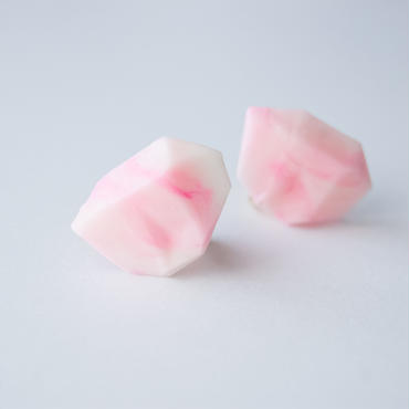 SALE | Marble Stone Earrings  S PINK
