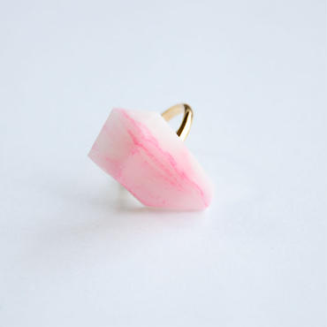 SALE | Marble Stone Ring  -  PINK