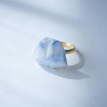 SALE | Marble Stone Ring  S - BLUE