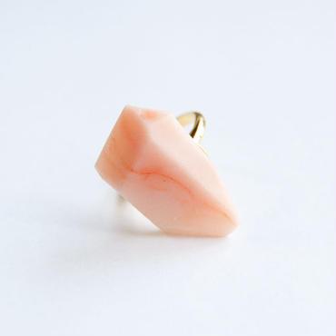 SALE | Marble Stone Ring  -  ORANGE