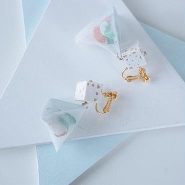 Trigonal Pyramid Piereced Earrings - CUBE イヤリング