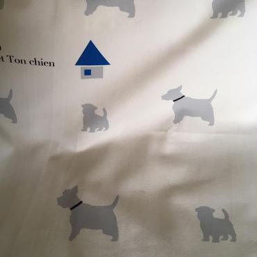 ウェスティ・シルエット生地 54cm巾×50cm