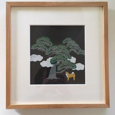 松の木の下で 柴 パリ  サロン・ド・トーヌ 入選作品