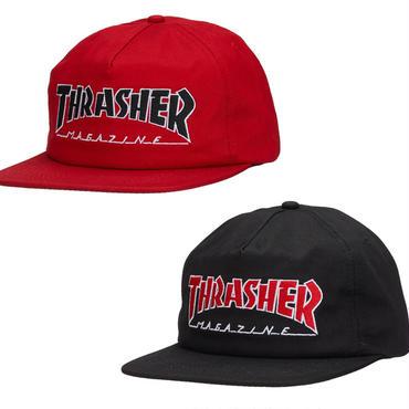 THRASHER OUTLINED SNAPBACK CAP