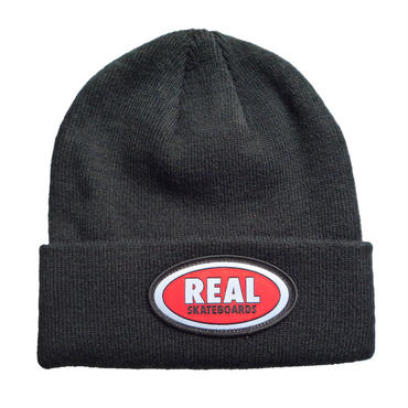 REAL OVAL PATCH CUFF BEANIE