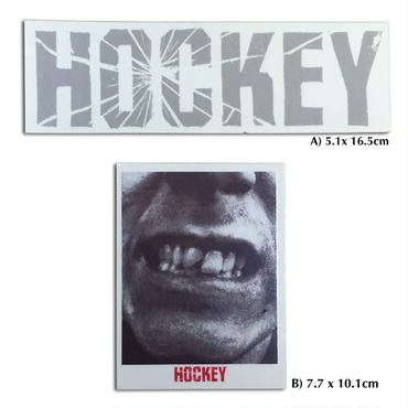 HOCKEY SHATTERED LOGO & SHATTERED STICKER