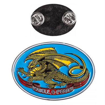 POWELL PERALTA  OVAL DRAGON  LAPEL PINS