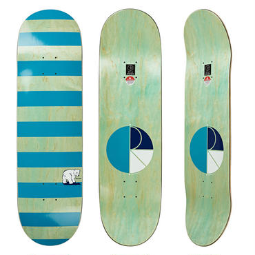 DEAR, x POLAR SKATE CO. BLOCK STRIPE DECK MINT/TEAL   (8.25 x 31.875inch)