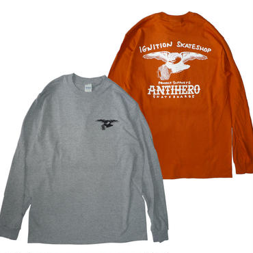 IGNITION SKATESHOP x ANTI HERO 18 SUPPORT L/S TEE