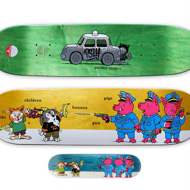 PAISLEY SKATES  SEAN CLIVER  PIGS DECK  (8.12 x 32.12inch)