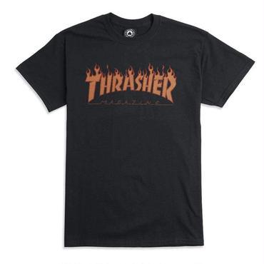 THRASHER FLAME HALFTONE TEE