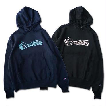 HESHDAWGZ  x RUSS POPE ARM PULLOVER HOODIE