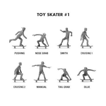 "Toy Boarders ""Toy skater #1 / Slate gray"