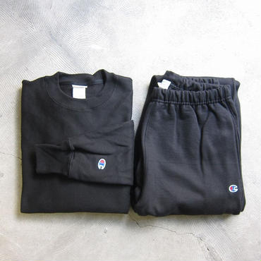 Champion / チャンピオン / Reverse Weave / リバースウィーブ / SWEATSHIRT + PANTS SET / Black