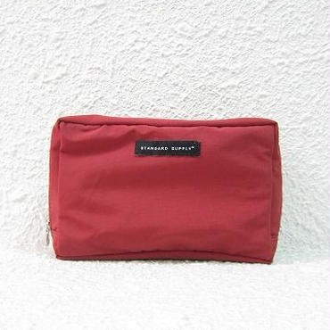 STANDARD SUPPLY / スタンダードサプライ / SQUARE POUCH - L / RED