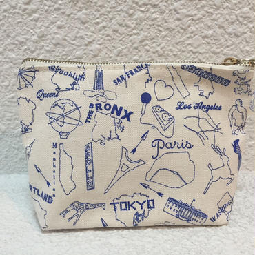 MAPTOTE / POUCH / blue