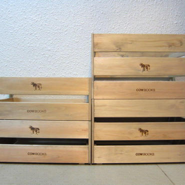 COW BOOKS / Wood Box Stacking / Big