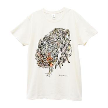 にわとりTシャツ/Ivory
