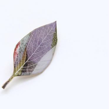 木の葉のブローチ(B)(ボックス入り)