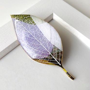 木の葉のブローチ(C)(ボックス入り)