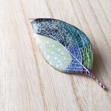 木の葉のブローチ(E)