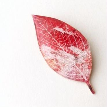 木の葉のブローチ(ラメ入りC / ボックス入り)
