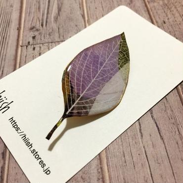 木の葉のブローチ(C)